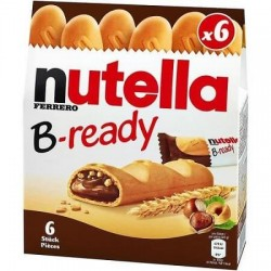 B READY NUTELLA 132G X6