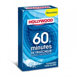 HOLLYWOOD 10 DRAGEES 60MN MENTHE FORTE X16