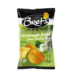 CHIPS BRET'S FROMAGE FRAIS/ FINES HERBES 125G
