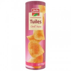 TUILES TUBO BACON BELLE FRANCE 170G