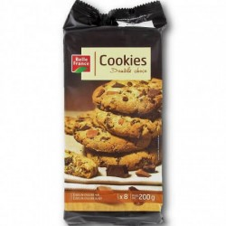 COOKIES MAXI DOUBLE CHOCO X 8 BELLE FRANCE 200GR