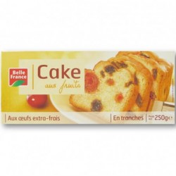 BELLE FRANCE CAKE FRUITS TRANCHES 250G