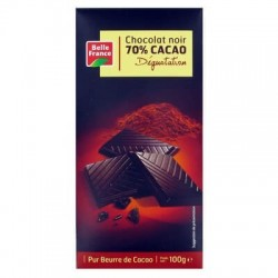 BELLE FRANCE CHOCOLAT NOIR DÉGUSTATION 70% CACAO 100G