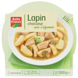 BELLE FRANCE BARQUETTE LAPIN CHASSEUR 300G