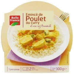 BELLE FRANCE BARQUETTE ÉMINCE POULET CURRY 300G