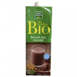 BELLE FRANCE BOISSON AU SOJA CHOCOLAT BIO BRICK 1L