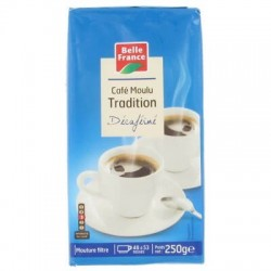 CAFÉ TRADITION DÉCAFÉINE BELLE FRANCE 250G