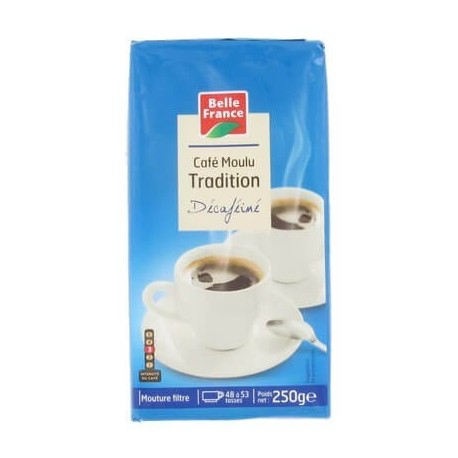 BELLE FRANCE CAFÉ TRADITION DÉCAFÉINE 250G