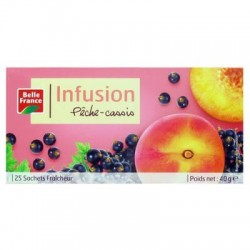 BELLE FRANCE INFUSION PÊCHE CASSIS 25 SACHETS