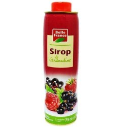 SIROP GRENADINE BELLE FRANCE 75CL