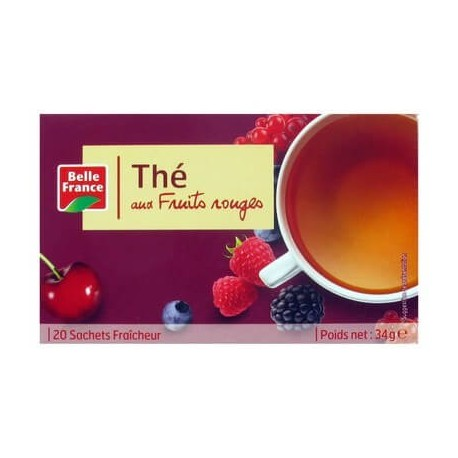 BELLE FRANCE THÉ FRUITS ROUGES 25 SACHETS