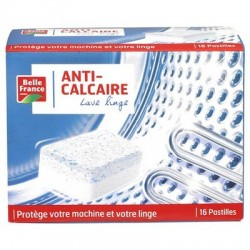 BELLE FRANCE PASTILLES ANTI-CALCAIRE LAVE LINGE X 15