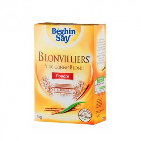 BEGHIN SAY BLONVILLIERS SUCRE POUDRE CANNE 1KG