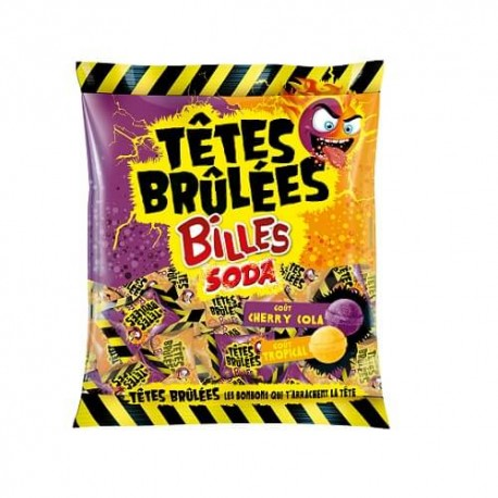 TÈTE BRÛLÉES BILLE SODA COLA/TROPICAL 70G
