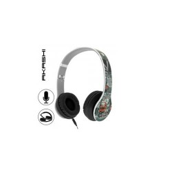 "CASQUE STEREO ""LONDON"" PLIABLE+MICRO COMP. SMARTPHONE AKASHI"