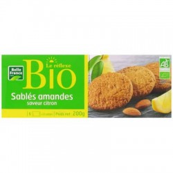 SABLE AMANDES BIO SAVEUR CITRON BELLE FRANCE 200G