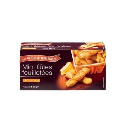 MINI FLUTES FROMAGE FEUILLETEES 100G