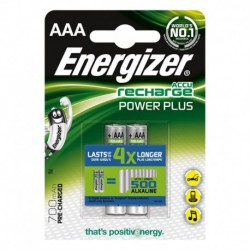 PILES ENERGIZER RECHARGEABLE AAA  POWER PLUS BLIST X 2